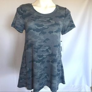 Sonoma Blue Camo short sleeves tunic. Sz.M NWT